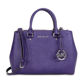 Michael Kors 'Sutton' Iris Saffiano Leather Medium Handbag