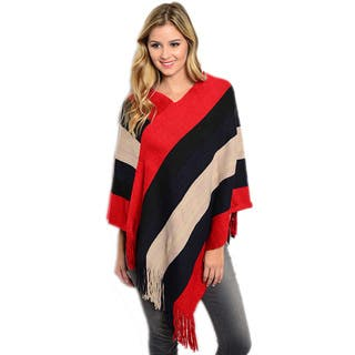Shop the Trends Women's Thick Ribbed Knit Pullover Poncho|https://ak1.ostkcdn.com/images/products/10648610/P17715455.jpg?impolicy=medium