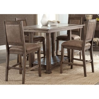 Stone Brook Rustic Saddle Upholstered Counter Height Barstool