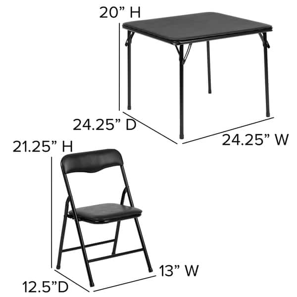 Shop Kids 5 Piece Folding Table And Chair Set Kids Activity