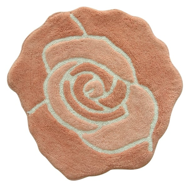 Jessica Simpson Bloom Shaped Bath rug 26x28.