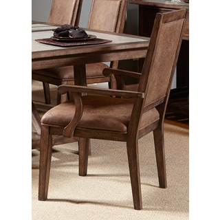 Stoney Brook Rustic Saddle Upholstered Arm Chair