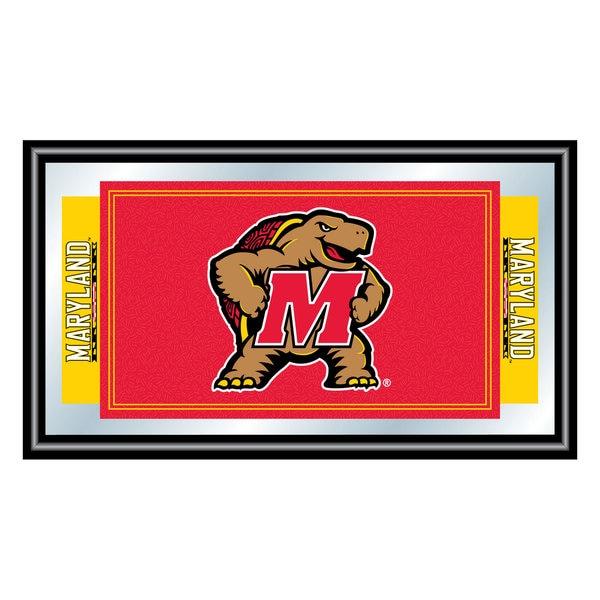 Maryland University Logo and Mascot Framed Mirror