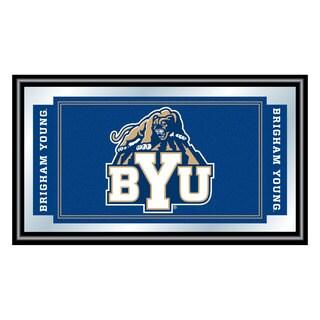 BYU Logo and Mascot Framed Mirror