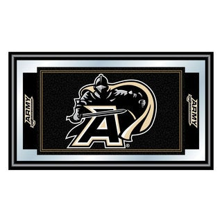 Army Black Knights Framed Logo and Mascot Mirror