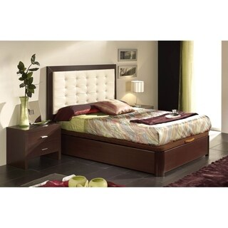 Luca Home Full Tufted Storage Bed