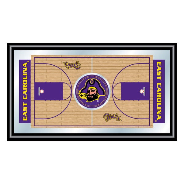 East Carolina University Framed Basketball Court Mirror