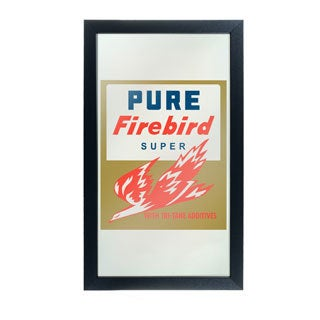 Pure Oil Framed Logo Mirror