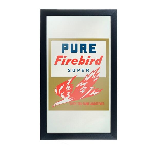 Pure Oil Framed Logo Mirror