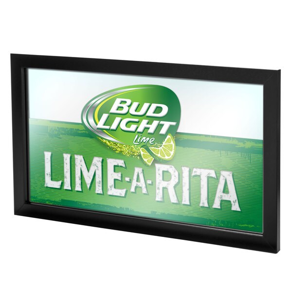 Bud Light Lime-A-Rita Framed Logo Mirror