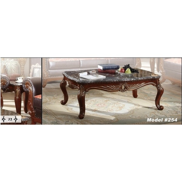 Cherry Marble Top Coffee Tables: Shop Meridian Cherry Finished Bellini Coffee Table With