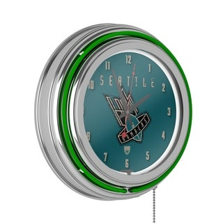 VAF Seattle Bombers Chrome Double Ring Neon Clock
