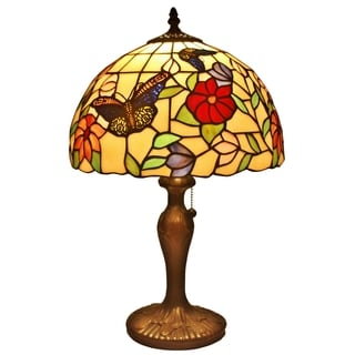 Amora Lighting Tiffany Style Butterfly Table Lamp