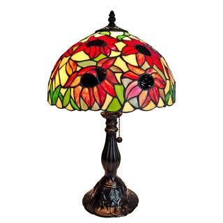 Amora Lighting Tiffany Style Sunflowers Table Lamp