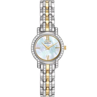 Citizen Eco-Drive Women's EX1244-51D Silhouette Crystal Watch