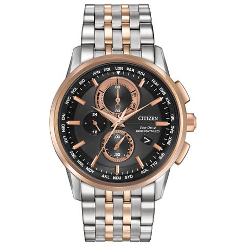 Citizen Men's AT8116-57E 'Eco-Drive' Chronograph Two-Tone Stainless Steel Watch