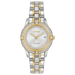 Citizen Women's FE1154-57A Eco-Drive Silhouette Crystal Watch|https://ak1.ostkcdn.com/images/products/10649507/P17716589.jpg?impolicy=medium