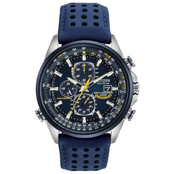 ab6799d7b699 Shop Citizen Men s AT8020-03L Eco-Drive Blue Angels World Chrono A-T Watch  - Free Shipping Today - Overstock - 10649537