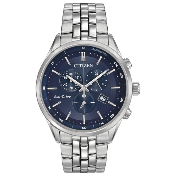 2f1355d6ae2 Shop Citizen Eco-Drive Men s Blue Dial Watch - Free Shipping Today -  Overstock - 10649541