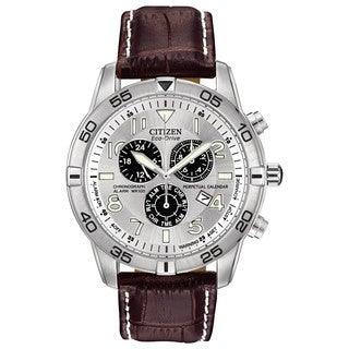 Citizen Men's BL5470-06A Eco-Drive Perpetual Calendar Chronograph Watch