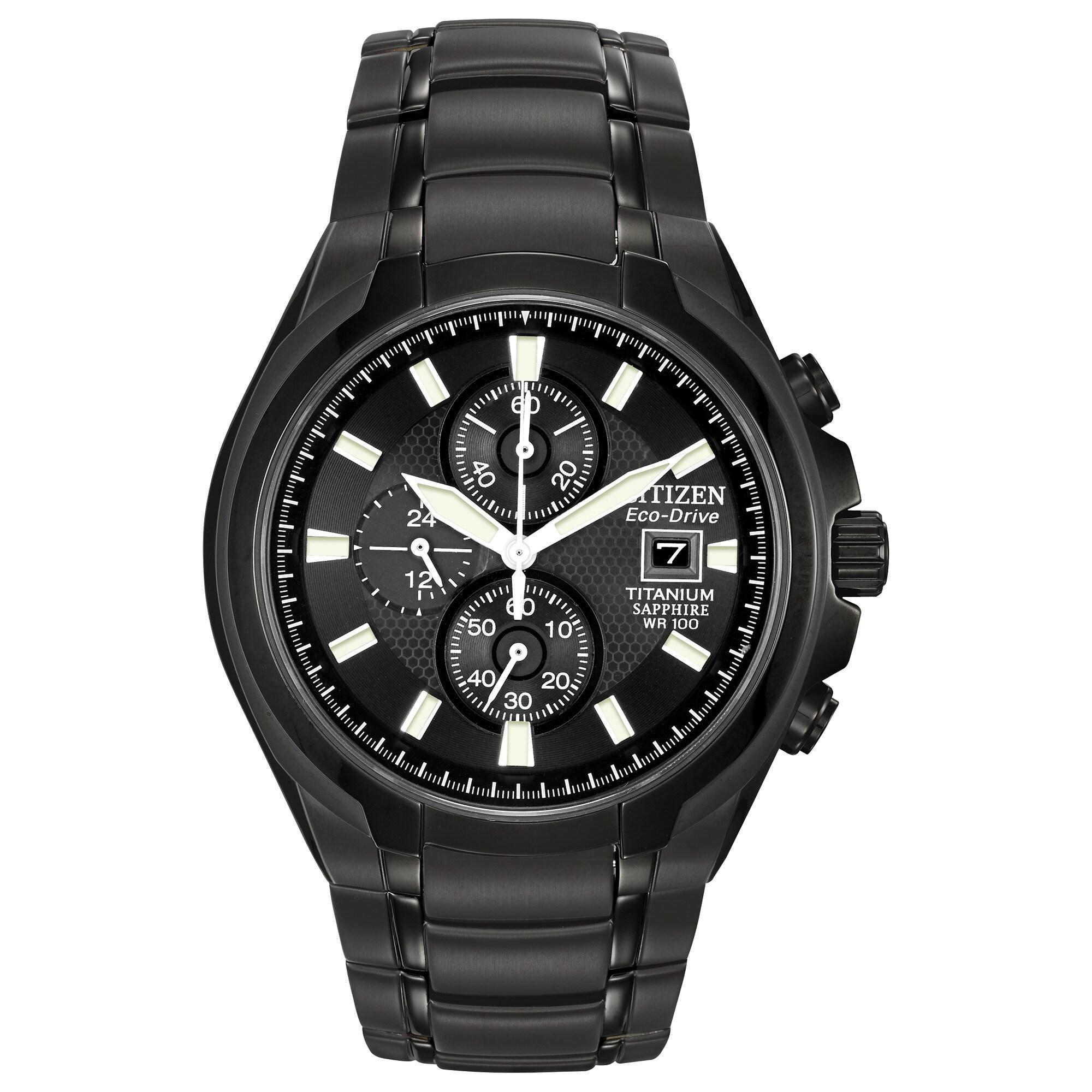 Citizen Men's CA0265-59E Eco-Drive Titanium Watch (Announ...