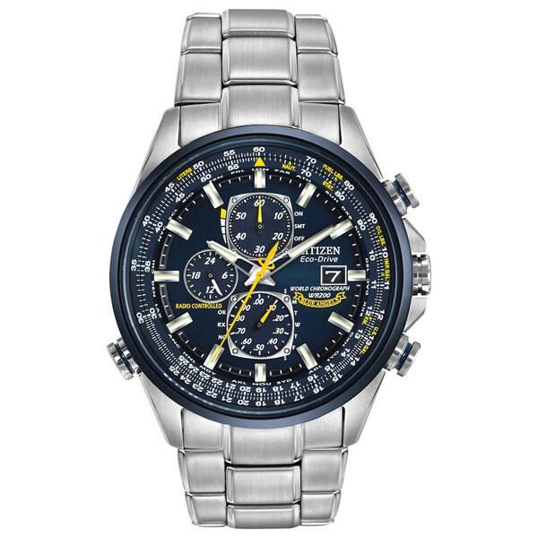 7ff15a5bd0d8d Shop Citizen Men s Eco-Drive Blue Angels World Chronograph AT Watch ...