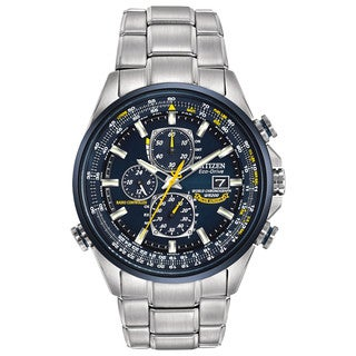 Citizen AT8020-54L Mens Eco Drive Chronograph Strap Watch