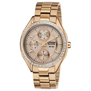 Drive from Citizen Women's FD1063-57X Eco-Drive Champagne Rose Gold-Tone Watch