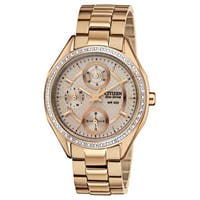 Drive from Citizen Women's  Eco-Drive Champagne Rose Gold-Tone Watch