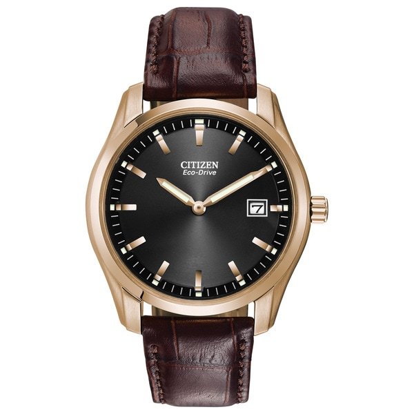 76667129d Shop Citizen Eco-Drive Leather Mens Watch AU1043-00E - Free Shipping Today  - Overstock - 10649596