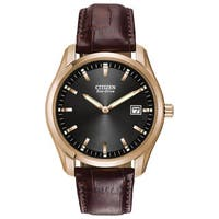 Citizen Eco-Drive Leather Mens   Watch AU1043-00E