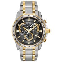 Citizen Men's  Stainless Steel Eco-Drive Perpetual Chrono AT Watch