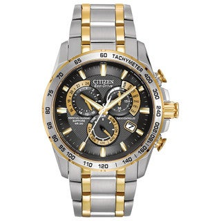 Citizen Men's AT4004-52E Stainless Steel Eco-Drive Perpetual Chrono AT Watch