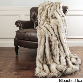 Aurora Home Faux Fur Throw Blankets by Wild Mannered - with Faux Fur Key Chain (More options available)