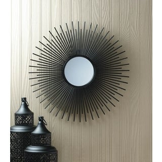 Decorative Starburst Black Wall Mirror