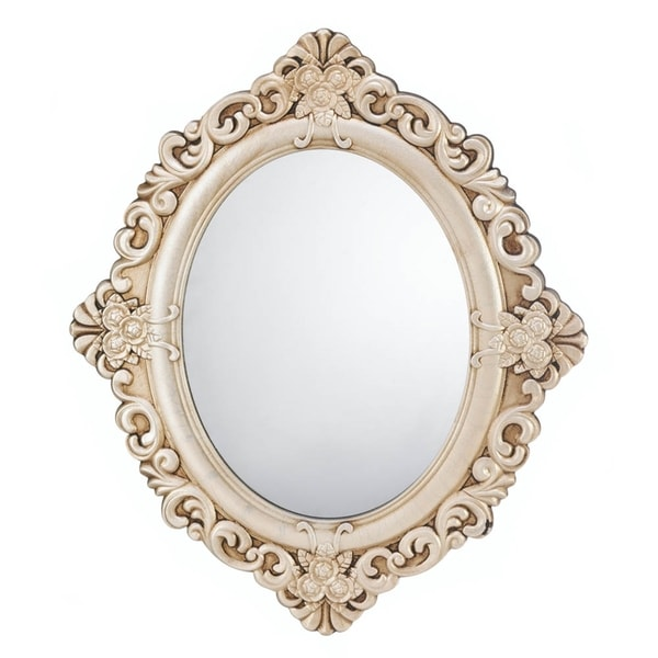Antique style oval wall mirror free shipping today for Antique style wall mirror