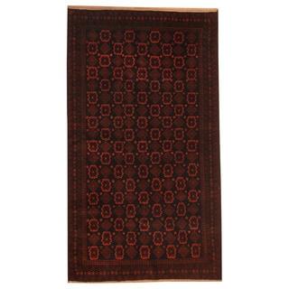 Herat Oriental Afghan Hand-knotted Tribal Balouchi Wool Rug (3'5 x 6'1)