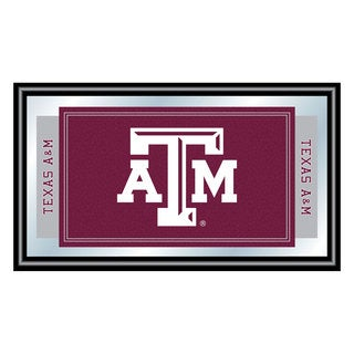 Texas A&M University Logo and Mascot Framed Mirrort