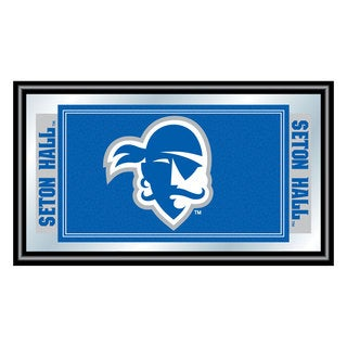 Seton Hall University Logo and Mascot Framed Mirror