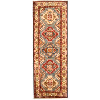 Herat Oriental Afghan Hand-knotted Tribal Kazak Wool Runner (2' x 5'9)|https://ak1.ostkcdn.com/images/products/10649869/P17716867.jpg?impolicy=medium