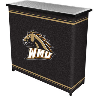 Western Michigan University? 2 Shelf Portable Bar w/ Case