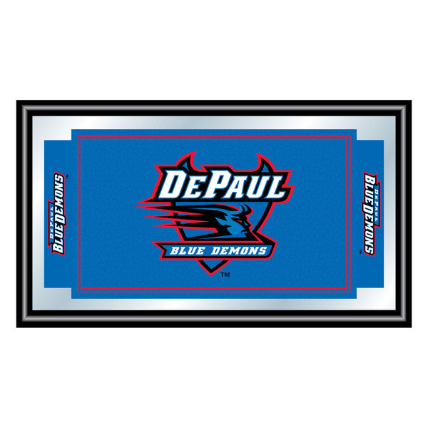DePaul University Logo and Mascot Framed Mirror