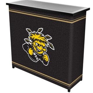 Wichita State University 2 Shelf Portable Bar w/ Case