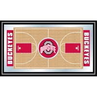 The Ohio State Framed Basketball Court Mirror