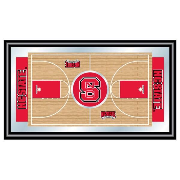 North Carolina State Basketball Framed Full Court Mirror