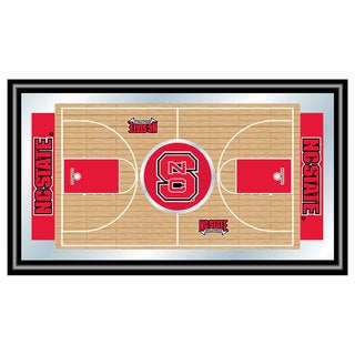North Carolina State Basketball Framed Full Court Mirror