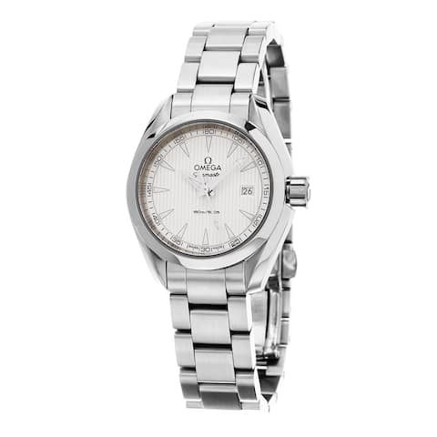 Omega Women's 'Seamaster AquaTerra' Silver Dial Stainless Steel Swiss Quartz Wat