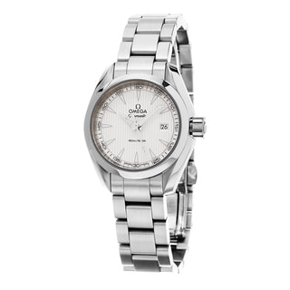 Omega Women's 231.10.30.60.02.001 'Seamaster AquaTerra' Silver Dial Stainless Steel Swiss Quartz Watch