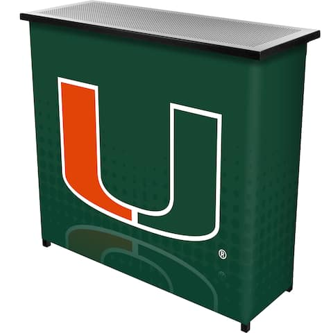 University of Miami Portable Bar with Case