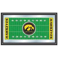 University of Iowa Football Field Framed Mirror